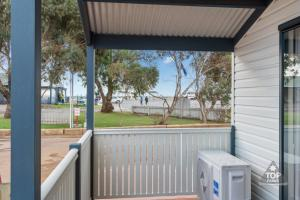 A balcony or terrace at Jurien Bay Tourist Park