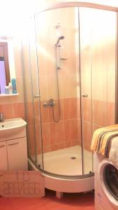 A bathroom at Уютная квартира рядом со станцией