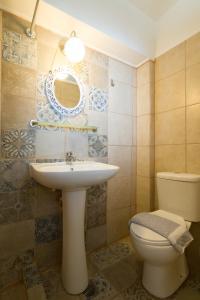 A bathroom at Casa dei Venti