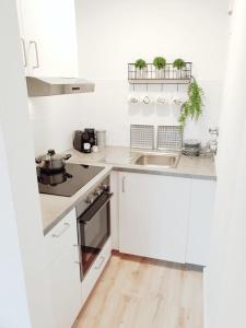 Küche/Küchenzeile in der Unterkunft Holiday Appartement »Achalm« mit Sonnenterrasse