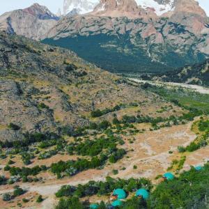 Una vista aérea de Patagonia Eco Domes