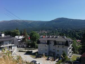 Widok na góry z tego apartamentu