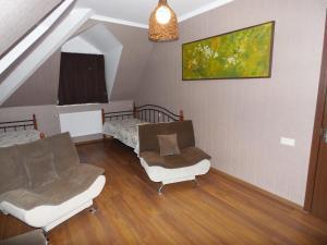 A seating area at Borjomi Apartment Erekle Street
