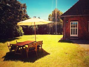 Ein Garten an der Unterkunft Schickes Landhaus in Koselau&Ostsee