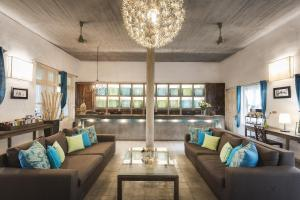 A seating area at Blue Lime Phnom Penh