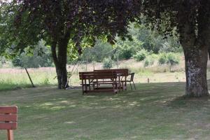 En trädgård utanför STF Vandrarhem Blentarp