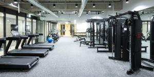 The fitness center and/or fitness facilities at KYND Hotel