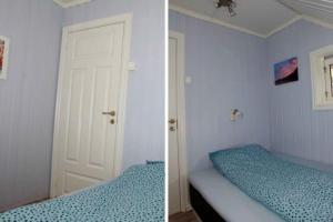 Cama o camas de una habitación en Fjordperlen