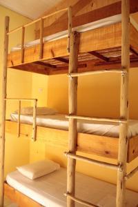 Uma ou mais camas em beliche em um quarto em Hostel Fazenda Itamambuca