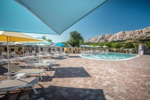 The swimming pool at or near Baška Beach Camping Resort by Valamar