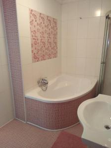 Koupelna v ubytování Apartmán Nostalgie