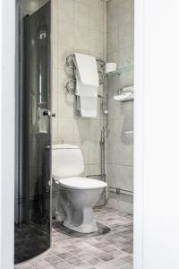 Ett badrum på Piteå Stadshotell