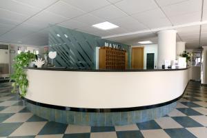 The lobby or reception area at Hotel Mavi