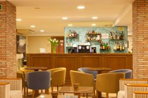 The lounge or bar area at Hotel Bersoca