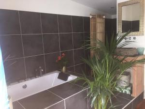 A bathroom at Insolite Bois Cailloux avec Spa
