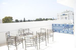 A balcony or terrace at Tunisia Queen Apartment