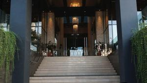 The facade or entrance of Akmani Hotel Jakarta