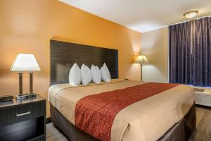 A bed or beds in a room at Econo Lodge International Drive
