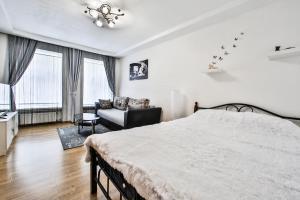 Кровать или кровати в номере Apartments Spassky Pereulok