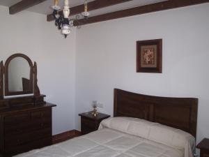 Cama o camas de una habitación en Casa Rural Arturo I