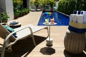 The swimming pool at or close to Hotel Porto Jatiuca