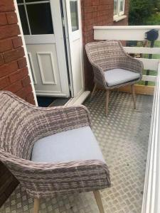 A seating area at Moorhouse Farm Flat