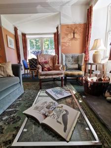 Zona de estar de Woodwick House
