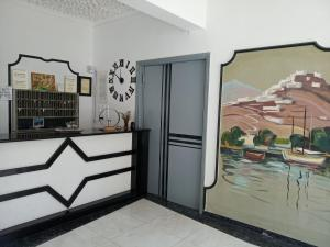 Ο χώρος του λόμπι ή της ρεσεψιόν στο Serifos Beach Hotel