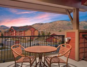 A balcony or terrace at Club Wyndham Steamboat Springs