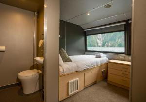 A bathroom at Milford Sound Overnight Cruise - Fiordland Discovery