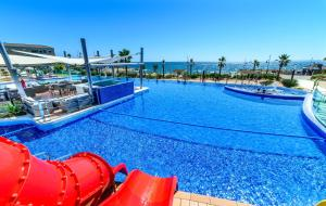 The swimming pool at or near crucero