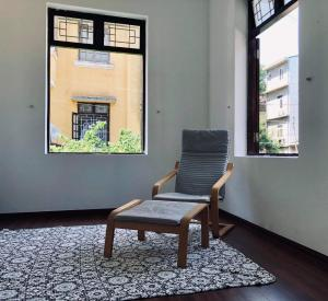 A seating area at Miu Apartment
