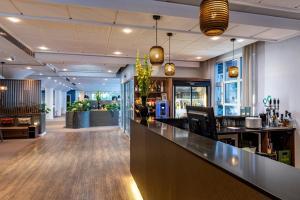 En restaurant eller et andet spisested på Slotshotellet Aalborg