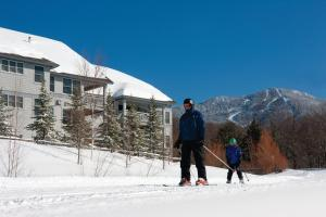 Smugglers' Notch Resort during the winter