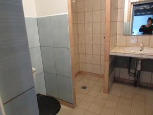 Salle de bains dans l'établissement Etretat's Motel