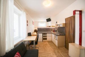 Kuchyňa alebo kuchynka v ubytovaní Apartmány Lea