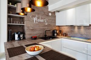 Küche/Küchenzeile in der Unterkunft FeWo Prora - Dünenblick