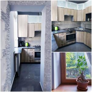 A kitchen or kitchenette at Apartament Wałbrzych / Szczawno - Zdrój