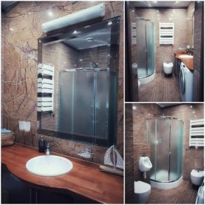A bathroom at Apartament Wałbrzych / Szczawno - Zdrój