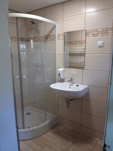 A bathroom at Attila's House