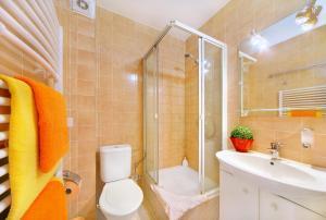 Ein Badezimmer in der Unterkunft Lucni Dum