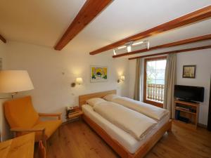 Ein Sitzbereich in der Unterkunft Hotel Alpenblick