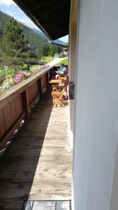 Ein Balkon oder eine Terrasse in der Unterkunft Haus am Gletscher