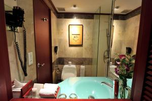 A bathroom at Hotel Borobudur Jakarta