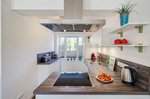 Küche/Küchenzeile in der Unterkunft FeWo Prora - Düne 18
