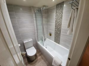 A bathroom at The Upper House