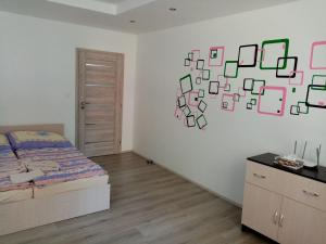 Postel nebo postele na pokoji v ubytování apartmán Aneta