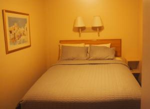 A bed or beds in a room at Woodland Motel and Suites