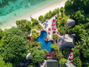 A bird's-eye view of Anantara Maia Seychelles Villas
