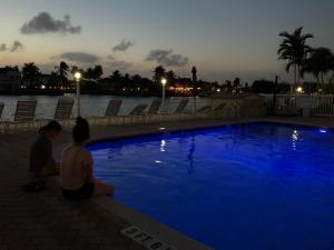 The swimming pool at or close to Aqua Mar Condos